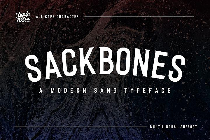 Sackbones Sport Font