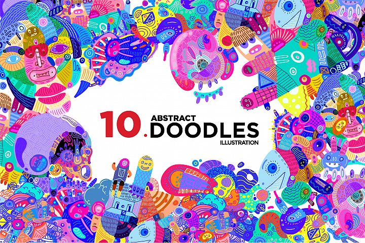 10 Abstract Doodle Illustrations