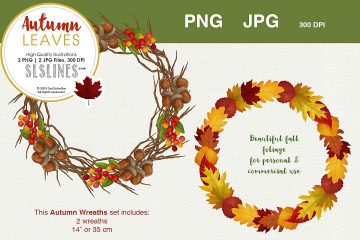 Fall & Autumn Wreath Set PNG