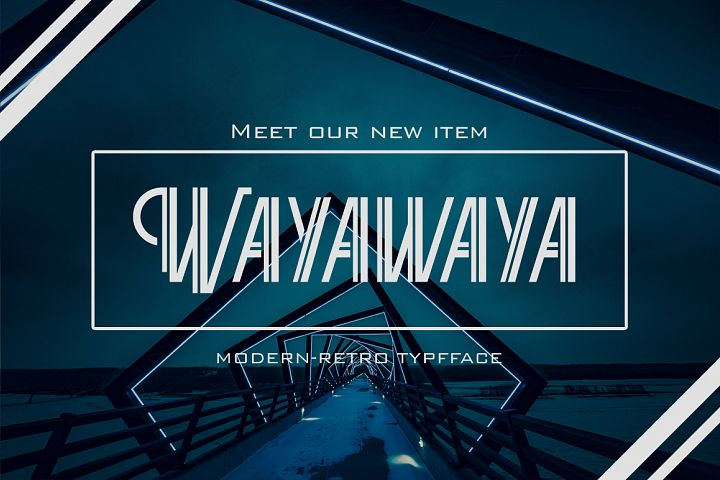 Wayawaya Typeface