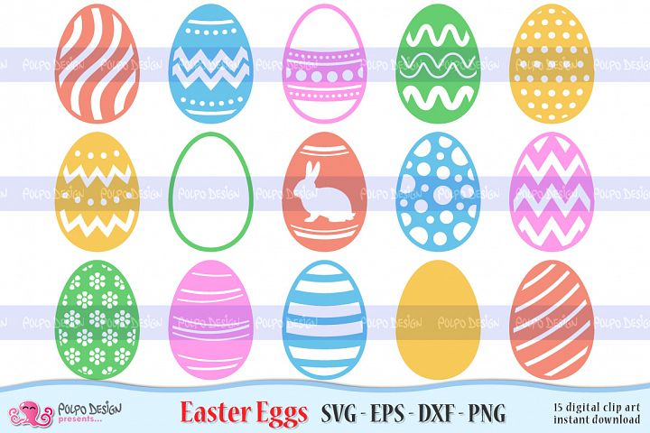 Easter Egg SVG, Eps, Dxf and Png