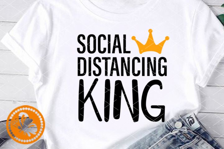 Social distancing King svg Crown png Stay home Quarantine