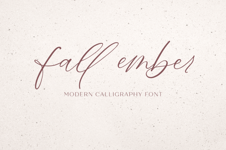 Fall Ember Calligraphy Script Font