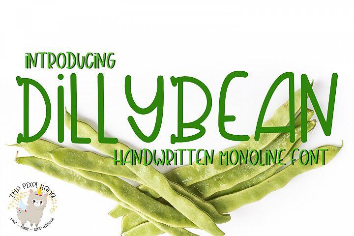 DillyBean A Handwritten Monoline Font