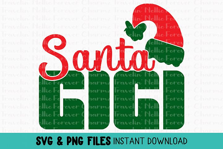 Santa Gigi SVG Winter Christmas Holiday Grandmother