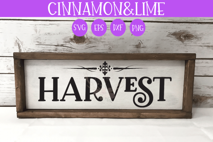 Thanksgiving SVG - Harvest Fall Wood Sign