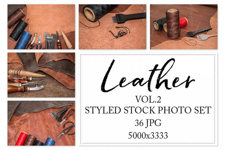 Leather. Styled stock photo set. Vol.1