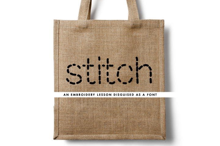Stitch - an embroidery lesson disguised as a font