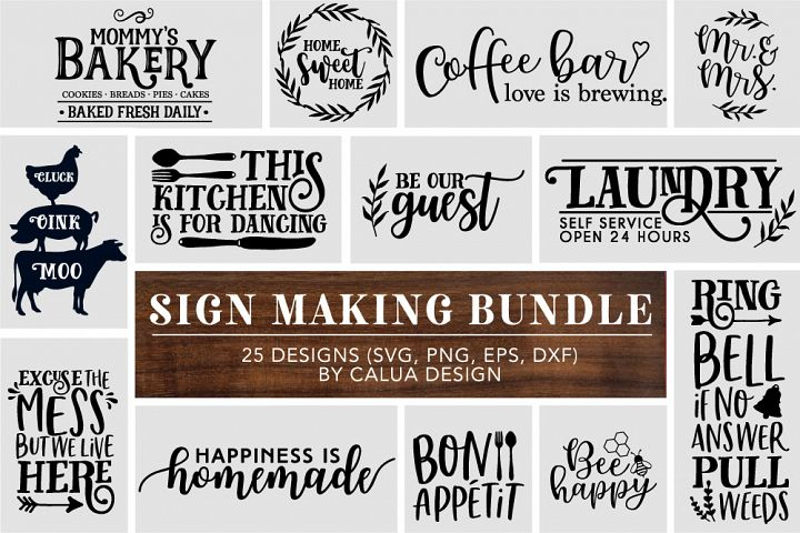 Big Home Sign Making Cut File Bundle