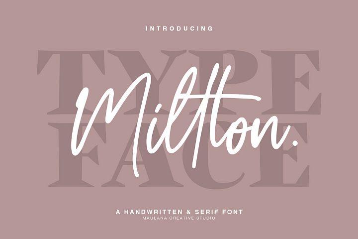 Millton - Font Duo