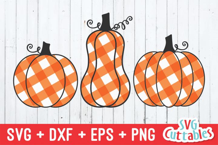 Gingham Plaid Pumpkins   Pumpkin SVG Cut File