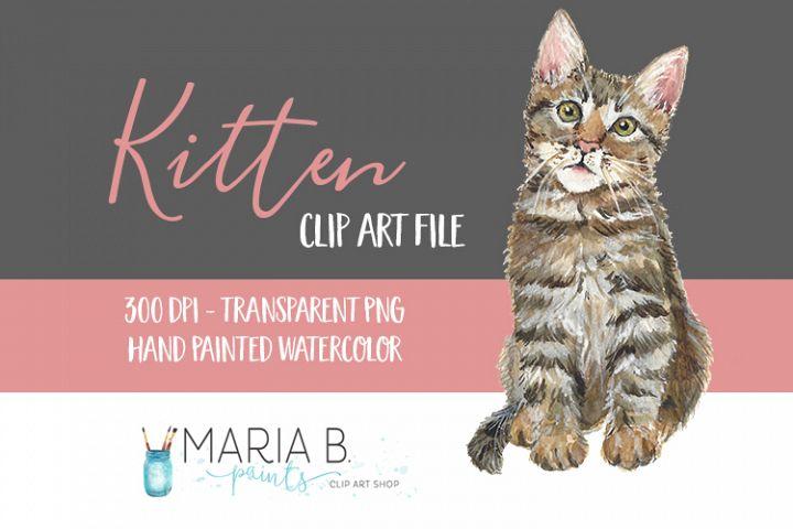 Kitten Watercolor Clip Art PNG
