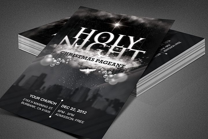 Holy Night Chirstmas Flyer Template