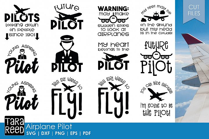 Airplane Pilot - Airplane SVG and Cut Files for Crafters