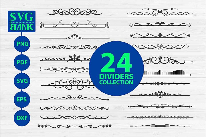 Dividers Collection, 24 text separator