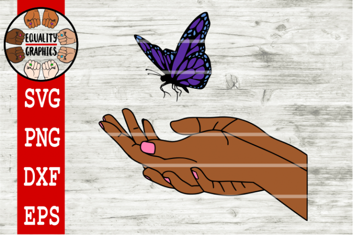 Butterfly on Hand SVG | DXF | EPS