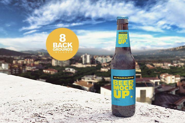 Backgrounds Beer Bottle Mockup