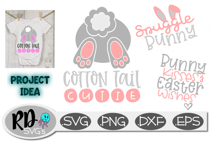 Easter SVG - Cotton Tail Cutie mini bundle cutting file