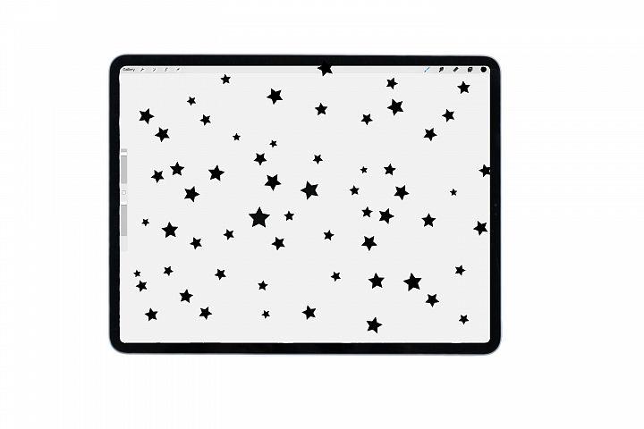 Procreate stars brush for iPad, iPad pro