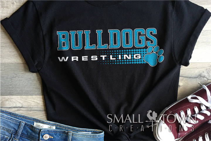 Bulldog, Wrestling, Team, Sports, Logo, PRINT, CUT & DESIGN