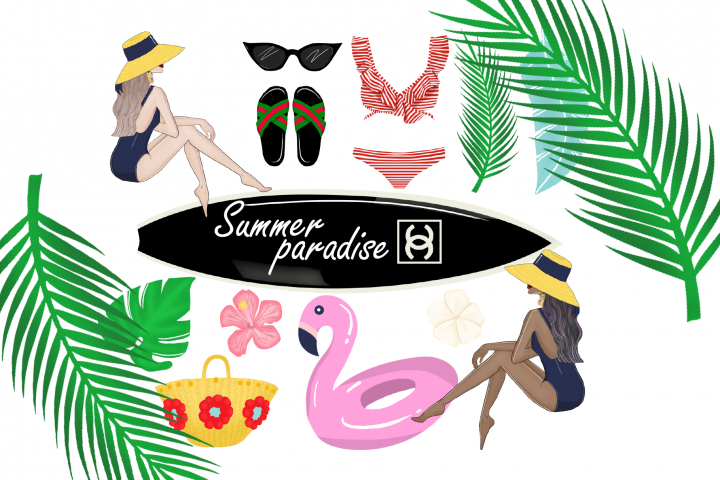 Summer paradise clipart
