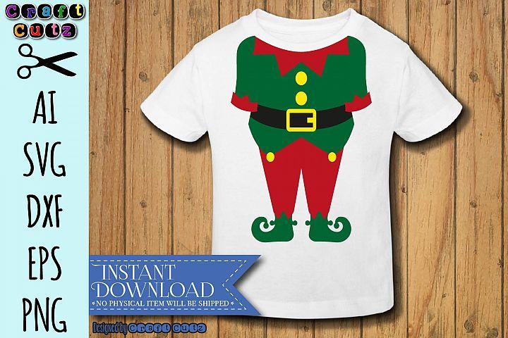 Elf Suit svg, Elf Costume svg, Funny Christmas Cut File
