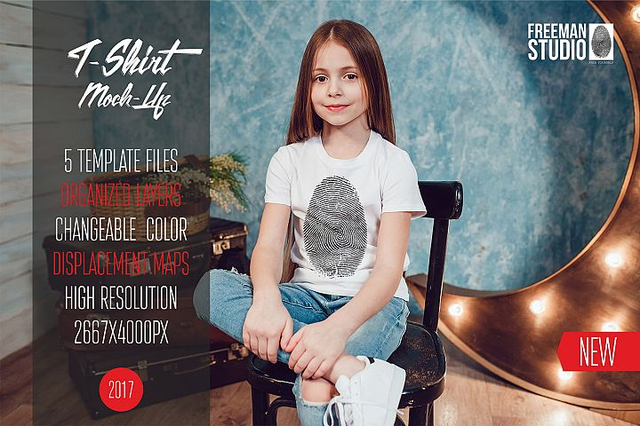 Kids T-Shirt Mock-Up Vol.1 2017