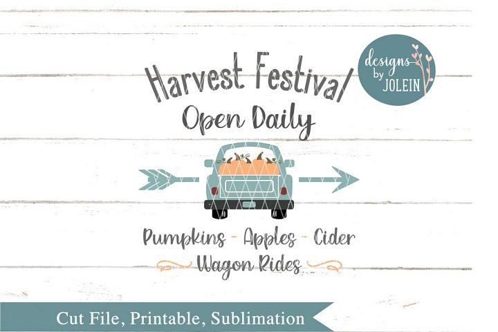 Harvest Festival SVG, png, eps, sublimation, DXF, Printable