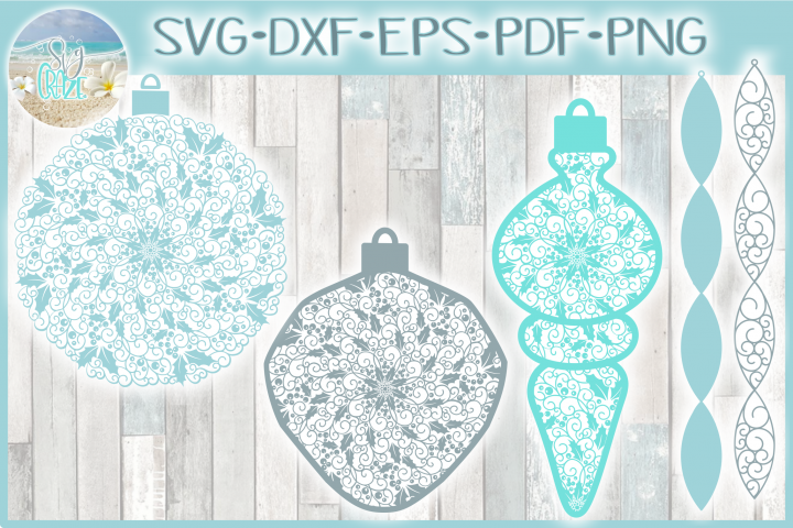 Christmas Vintage Ornaments Mandala SVG