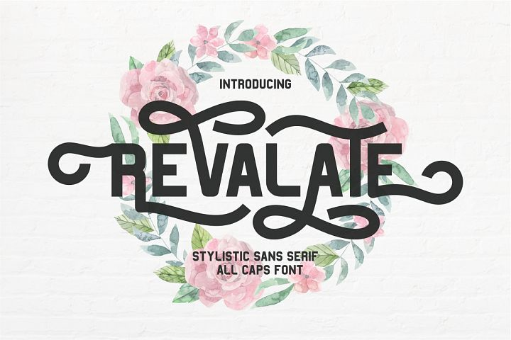 Revalate - Stylistic Sans Serif example