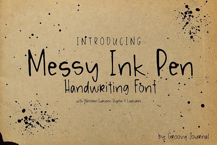 Messy Ink Pen Handwritten Font