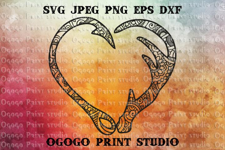 Hunting SVG, Zentangle SVG, Heart SVG, Fishing svg, Mandala