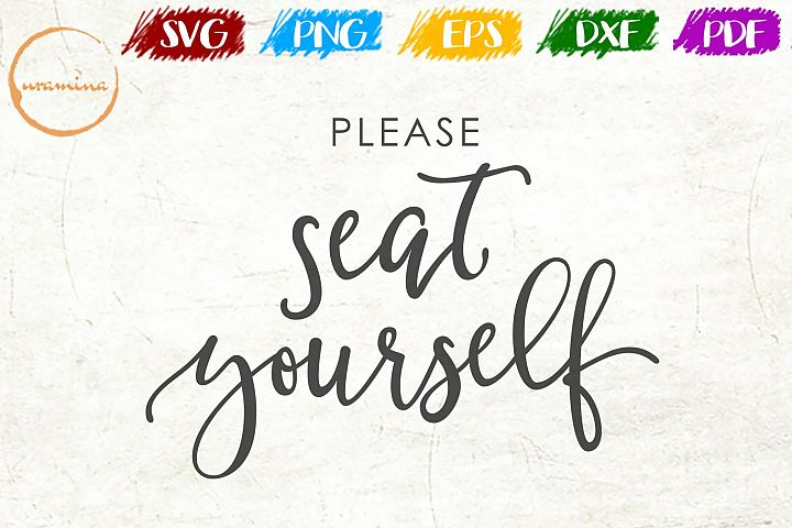 Seat Yourself Bathroom SVG PDF PNG