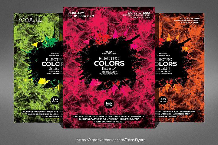 Smoke Electro Colors Flyer