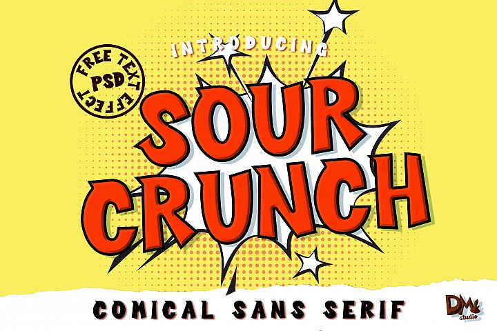Sour Crunch - Comical Font