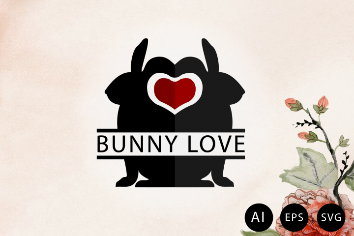 Invitation for Easter Bunny Love Sign SVG, AI, EPS, PNG