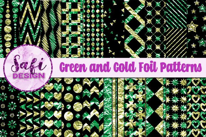 Green and Gold Foil Patterns
