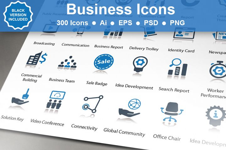 Business Icons - 300 Icons