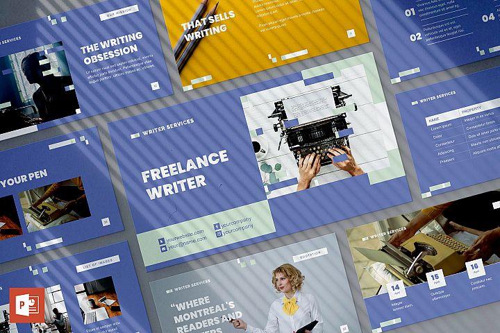 Freelance Writer PowerPoint Presentation Template
