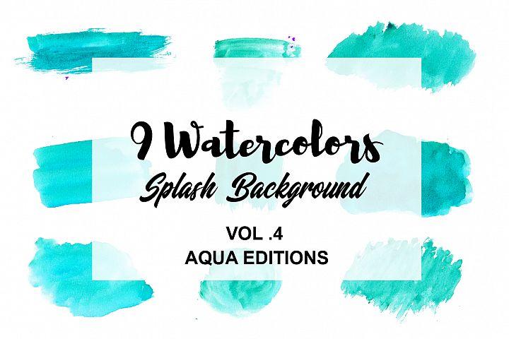 Watercolor Splash Background VOL.4 Aqua Editions
