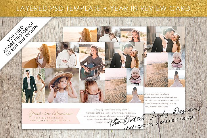 PSD Year In Review Photo Card Template #2