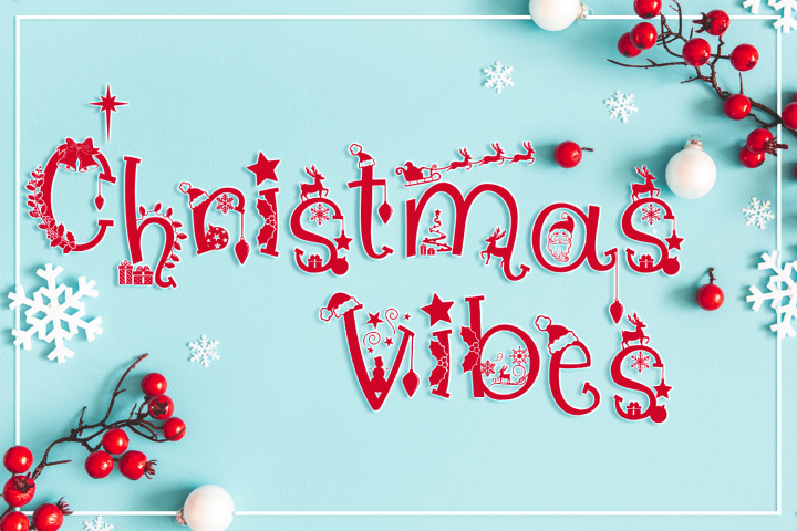 Christmas Vibes | A Whimsical Christmas Font