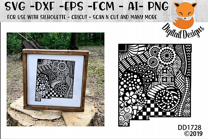 New Mexico State Zentangle SVG Cut File