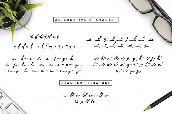 Slender Signature Font example image 7