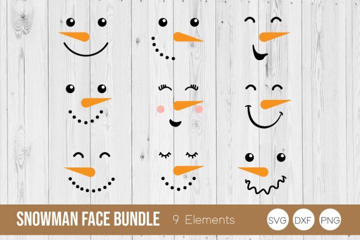 Snowman Face Bundle SVG Cut Files