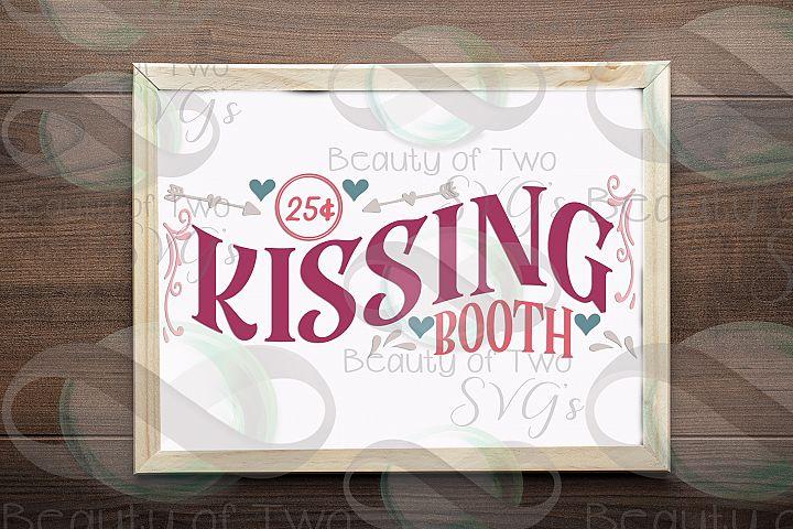 Valentines Kissing Booth svg, Valentines sign design svg
