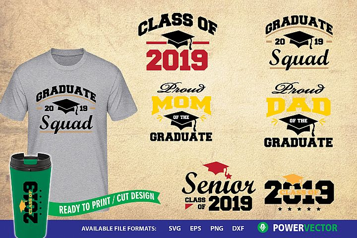 2019 Graduate - Graduating Class SVG Designs Mini Bundle