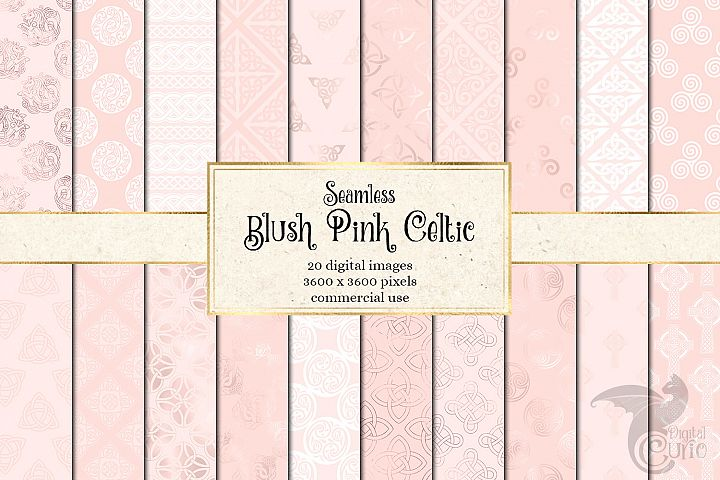Blush Pink Celtic Digital Paper