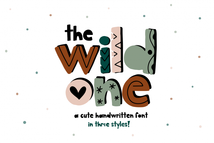 The Wild One - A Fun Handwritten Font with Alternatives!