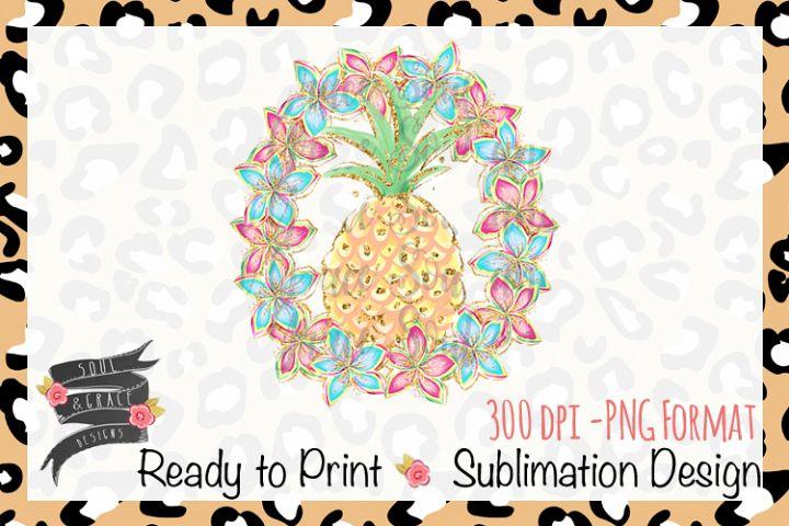 Summer Pineapple Wreath INSTANT DOWNLOAD